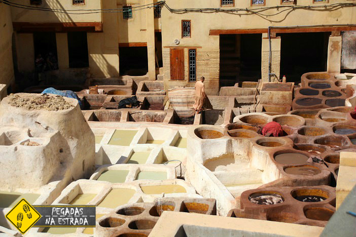 Curtume Chouwara Fez Excursão no Marrocos