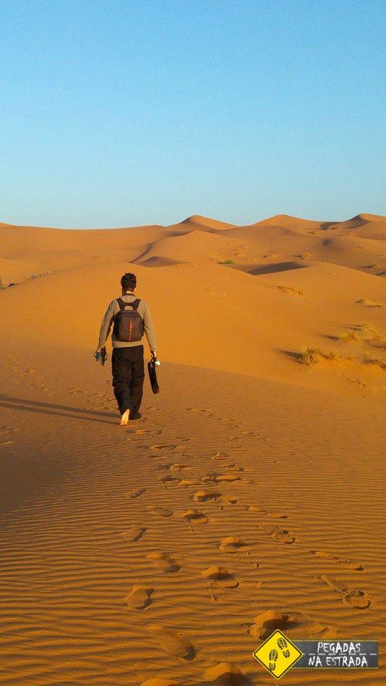 dunas Erg Chebbi acampamento no deserto do Saara