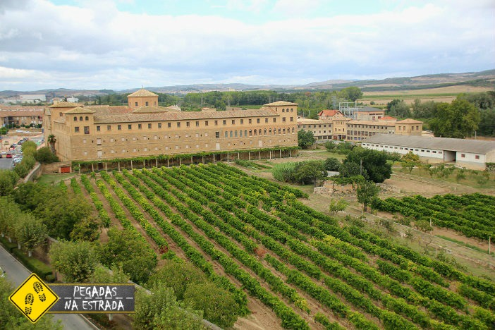 vinícola vinhedo Olite Espanha