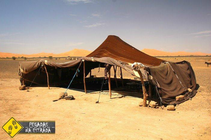 Tenda dos nômades do Deserto do Saara