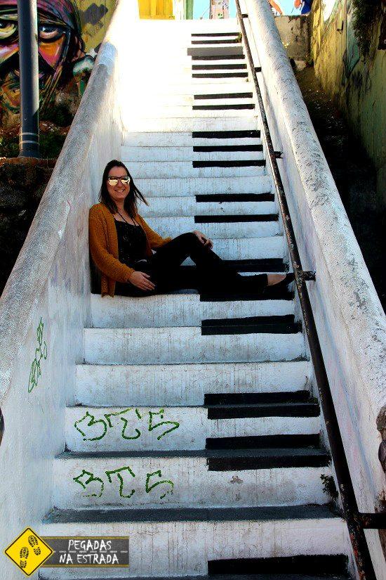 Escada do Piano Valparaíso arte de rua