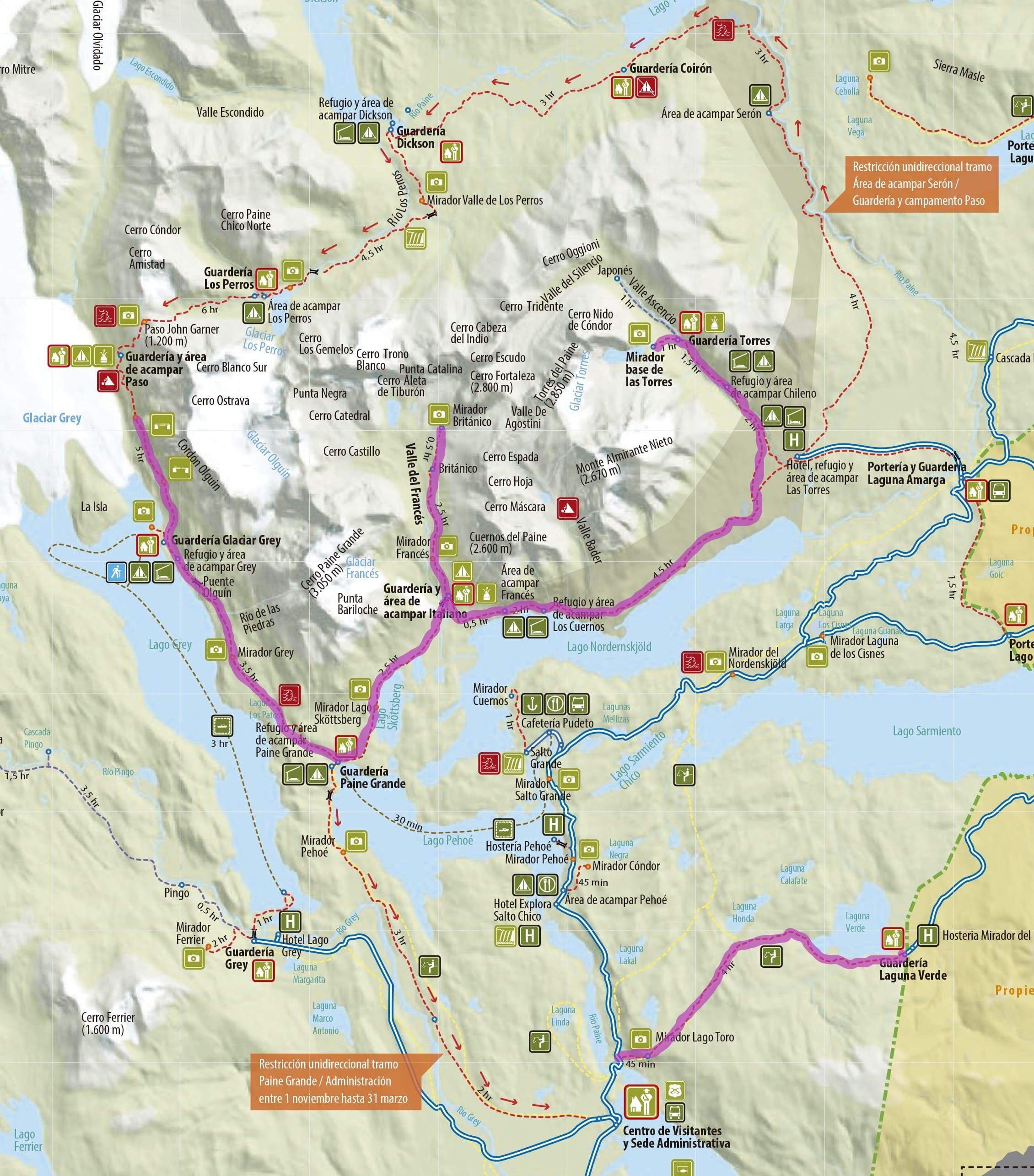 Circuito W : Luxury w trekking package in torres del paine