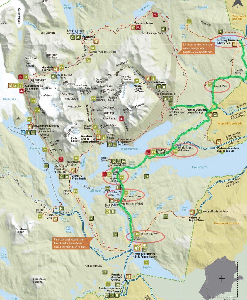 Roteiro de carro em Torres del Paine