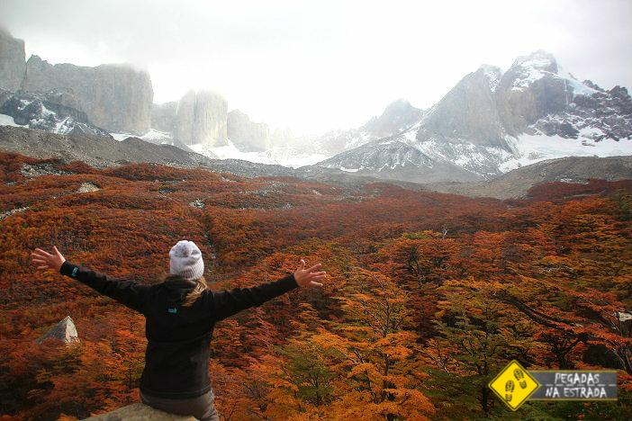 Torres del Paine no outono Chile
