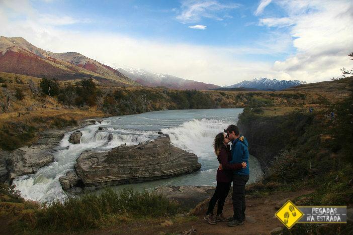Cascata Paine Parque Nacional Torres del Paine, Chile