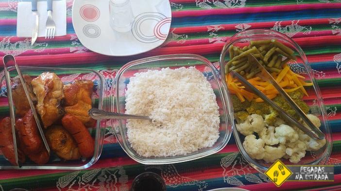 alimentação tour Salar de Uyuni