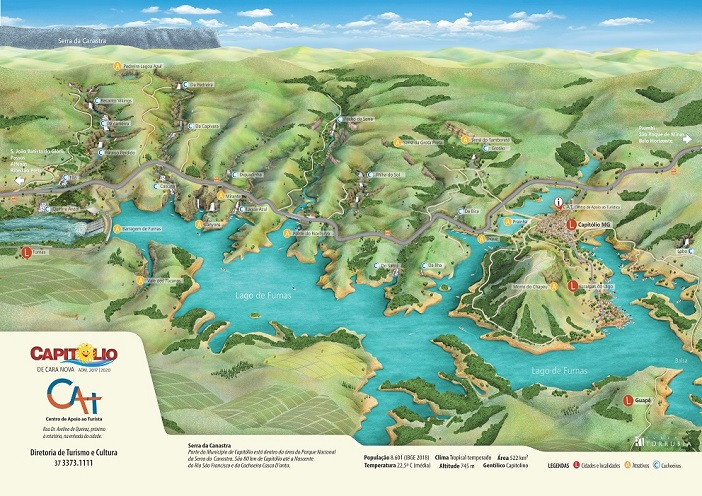 mapa Capitólio Minas Gerais